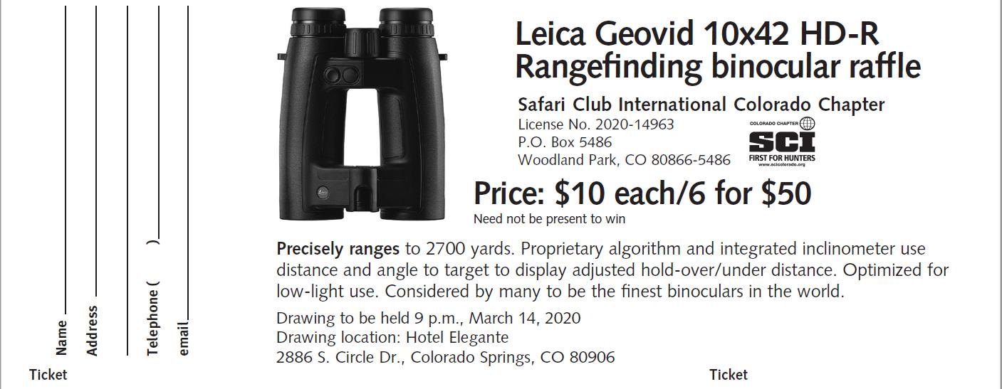 Leica Geovid HD-R Binocular Raffle - 1 Ticket