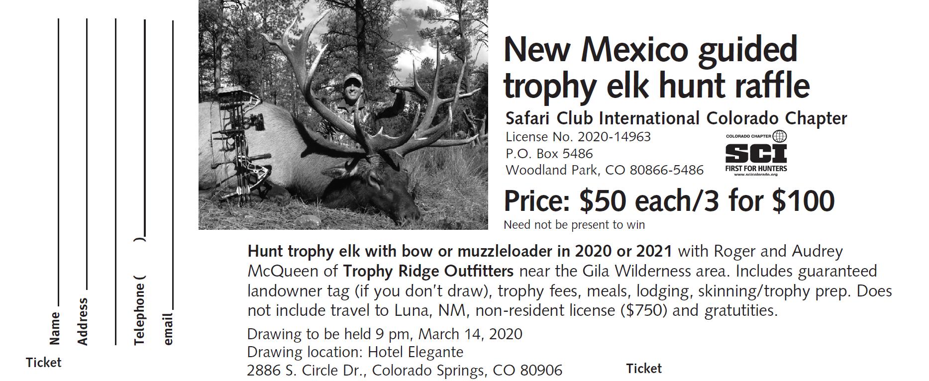 Elk Hunt in New Mexico - 1 Ticket